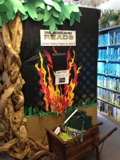 The creative staff at Mannington Public Library crafted beautiful displays to promote this year's Summer Reading Programs.