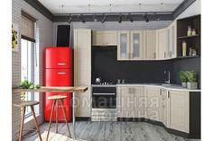 Кухня модульная Лофт-04 - 2,5х1,5 метра Cappucсino Veralinga