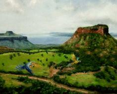 """Em execução: """"Araras do Mato Grosso"""", O.S.T., 40x60cm, Ézio Ojeda, Brasil"""