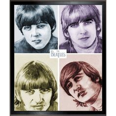 ArtistBe Dan Avenell 'The Beatles in Color' Fine Art Print on Canvas