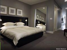 Modern bedroom paint colors modern bedroom colors bedrooms modern traditional homes interior design traditional bedroom colors modern classic bedroom modern Grey Bedroom Design, Gray Bedroom, Bedroom Colors, Bedroom Wall, Bedroom Designs, Grey Bedding, Ikea Bedroom, Grey Headboard, Couch Design