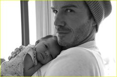 I want Bob and Gigi to take a pic like this - Harper and David Beckham.