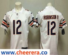 96e5e2c6bd2 Men's Chicago Bears #12 Allen Robinson II White 2018 Vapor Untouchable  Stitched NFL Nike Limited Jersey