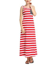 Look at this Red & White Stripe Maxi Dress - Women on #zulily today!