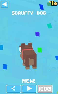 New crossy road character. (Scruffy dog)