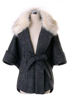 Faux Fur Cape Coat