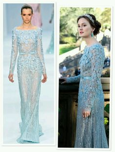 Gossip Girl: Blair Waldorf's Wedding Dress by Elie Saab I am absolutely in love with Blair's Elie Saab gown in Gossip Girl. I wish it could one day be my wedding gown too 🙂 Gossip Girl Blair, Gossip Girl Gowns, Gossip Girl Series, Mode Gossip Girl, Estilo Gossip Girl, Gossip Girl Outfits, Gossip Girl Fashion, Gossip Girls, Gossip Girl Wedding