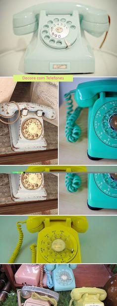 Telefones antigos lindos