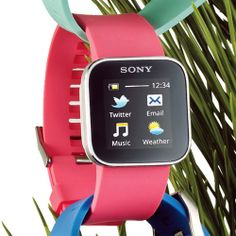 This Sony SmartWatch displays what your BF or BFF really cares about: Facebook and Twitter updates.