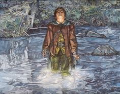 Tolkien Art Lord of the Rings Print Frodo by stephenwalshart