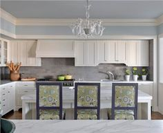Light Transitional Kitchen by Kendall Wilkinson