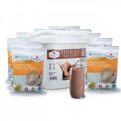 New Wise Company Chocolate Milk Bucket 60 Servings Emergency Food Kits, Emergency Food Storage, Survival Food, Wise Foods, Milk Alternatives, Chocolate Delight, Beauty Skin, Bucket, Snacks