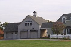 Our 24'x 36' 1-1/2 Story Barn with attached 22'x 18' Carriage House. www.countrycarpenters.com