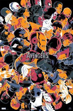 Películas míticas que vuelven en forma de inforgrafía - Avengers
