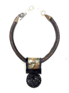 Copper & Black Silk Road Onyx by gretchenschields on Etsy