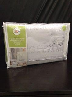 CIRCO  4 Piece Nursery Bedding Set  Gray Animals  Brand New