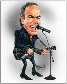 Caricature of Neil Diamond