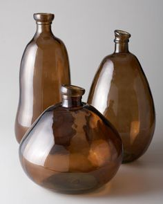 Brown Glass Vases by Shiraleah Home Fashion Accessories at Neiman Marcus.