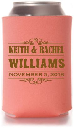 TWC-6660 One of our best selling #wedding #koozie templates. A great #weddingfavor from Totally Wedding Koozies