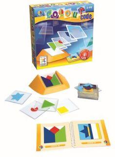 Age 5 +  Color Code SmartGames http://www.amazon.com/dp/B004TGVIWU/ref=cm_sw_r_pi_dp_ypFLtb1MAPWGQ2YZ