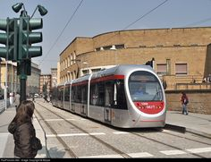 "The ""Sirio"" streetcar has just arrived at the terminus of Line 1 of the railway station of S. Maria Novella."