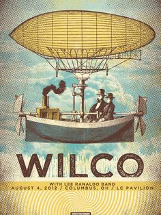 Wilco poster by Status Serigraph http://jungleindierock.tumblr.com/post/32391517541/wilco-poster