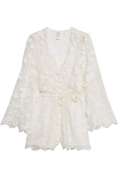1072973cb61 ZIMMERMANN Wrap-Effect Fil Coupé Silk Playsuit.  zimmermann  cloth   beachwear Silk