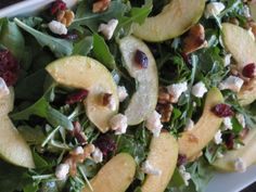 Fruit and Nut Spinach Salad with Mustard Vinaigrette- 284 calories | Lose Weight by Eating!