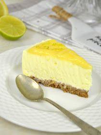 Tarta de yogur de limón ¡Sin horno! Lemon Recipes, Sin Gluten, Flan, Scones, Cheesecake, Paleo, Food And Drink, Easy Meals, Cooking Recipes