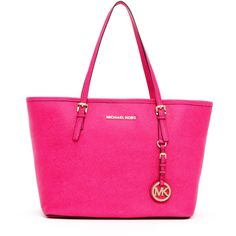 Women's MICHAEL Michael Kors Jet Set Small Saffiano Travel Tote ($228) ❤ liked on Polyvore