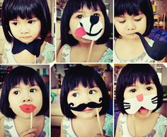 Get some of the kindergarten children to make masks for the photo booth