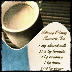 Calming Creamy Turmeric Tea