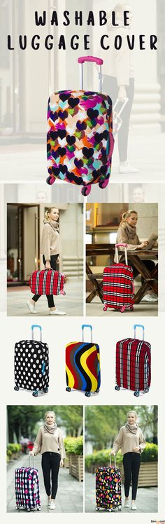 47d4dd6ecd8c US 9.86 + Free Shipping. Colorful Elastic Suitcase Cover. 4 sizes and 6  colors