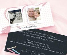 invitation anniversaire de mariage noces dmeraude - 40 Ans De Mariage Noce De