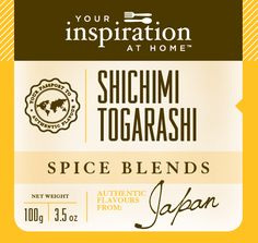 Fiery Japanese flavours of chilli, wasabi and Japanese pepper in a seven spice blend. Perfect for beef, chicken, fish or rice. http://www.alybrown.yourinspirationathome.com.au/shop-spice-blends.php