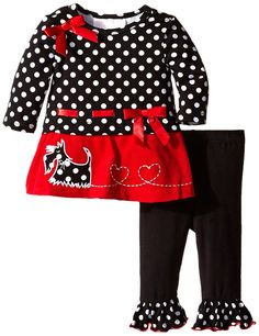 Bonnie Baby Baby-Girls Scottie Dog Corduroy Legging Set ** Tried it! Love it! Click the image. : Baby clothes