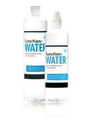 #FunctionWATER (electrolyte enhanced, vapor distilled)