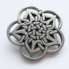 St Justin Of Cornwall Produced Celtic Brooch In Pewter Signed And Pre Owned  St Justins Brooch