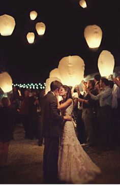 Wish/Prayer Lantern send off an out door wedding is a must for me(: