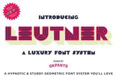 Leutner Font by RetroSupply Co. on @creativemarket