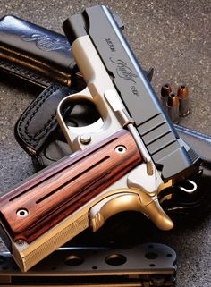 Kimber Golden Gun with Wood Grips