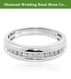 Diamond Wedding Band Mens Comfort Fit 1/4cttw 10K White Gold Round Diamonds. Diamond Wedding Band Mens Comfort Fit 1/4cttw 10K White Gold Round Diamonds Item Type: Wedding-bands Metal type: 10K White-gold 0.25 CARATS White-diamond Beautiful Real Diamond Ring measures 5.5MM Wide Ring box included, ships within 24 hours signature required on delivery Available in size 10 All measurements are approximate values, images are enlarged to show product details. Color diamonds are irradiated to...