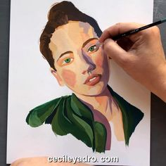 Potrait Painting, Acrylic Portrait Painting, Canvas Painting Tutorials, Diy Canvas Art, Gouche Painting, Art Painting Gallery, Arte Sketchbook, Aesthetic Art, Watercolor Art