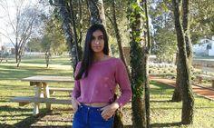 Look básico para o dia a dia: sweat rosa e jeans.  #ootd #fashion #style #outfit #look #fashionblogger #outfitpost