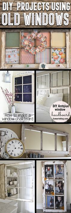 Window crafts - DIY Craft Projects Using Old Vintage Windows – Window crafts Diy Craft Projects, Home Projects, Home Crafts, Best Diy Projects, Craft Ideas, Decor Crafts, Diy Projects Using Old Windows, Old Window Projects, Repurposed Window Ideas