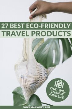 27 Best Eco-Friendly Travel Products That Will Change Your Life. Eco friendly products for sustainable travel. Eco Friendly Water Bottles, Eco Friendly Bags, Eco Friendly Products, Travel Gifts, Travel Bags, Travel Packing, Travel Backpack, Slow Travel, Shopping Travel