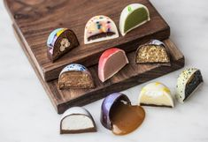 Nolita& Stick with Me Sweets featured bite-sized bon bons that are as beautiful as they are delicious. Chocolate Bonbon, Artisan Chocolate, Chocolate Shop, Chocolate Art, How To Make Chocolate, Chocolate Truffles, Chocolate Desserts, Bon Dessert, Chocolate Decorations