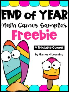 These fun math games make a great end of year activity for home or school. The games are NO PREP games, just print and play! End Of Year Activities, Fun Math Activities, Life Skills Classroom, Classroom Ideas, Third Grade Math Games, Summer Worksheets, Summer Words, Teaching Math, Teaching Ideas