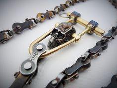 Wallet Chain Skull-4 por EdcApparatus en Etsy