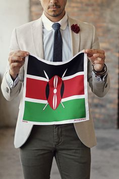 Kenya Pocket Square   |    Aid for Africa Campaign